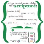 Use Scripture